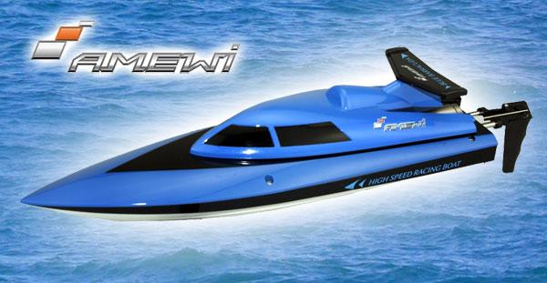 Amewi Blue Barracuda Mini Boot 2.4GHz RTR