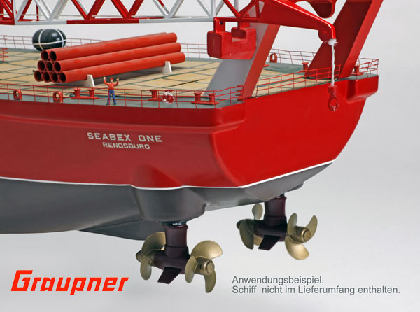 Graupner Twinpod-Antrieb m.Riemenantr. drehb.LL