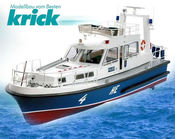 Krick HE 4 Polizeiboot Baukasten