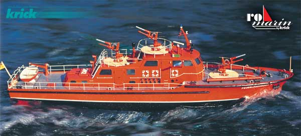 Krick Feuerlöschboot Düsseldorf Baukasten