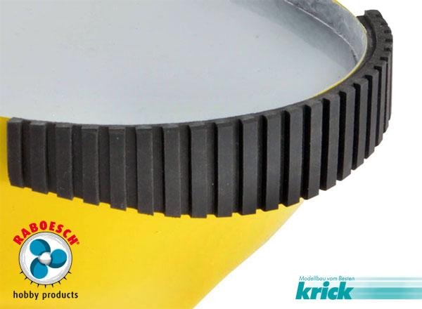 Krick Gummi Bumperplatte 600x120mm grob